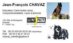 Jean-François Chavaz éducateur canin